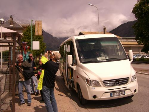 The big van we hired to get us to Bourg d'O was certainly comfy.