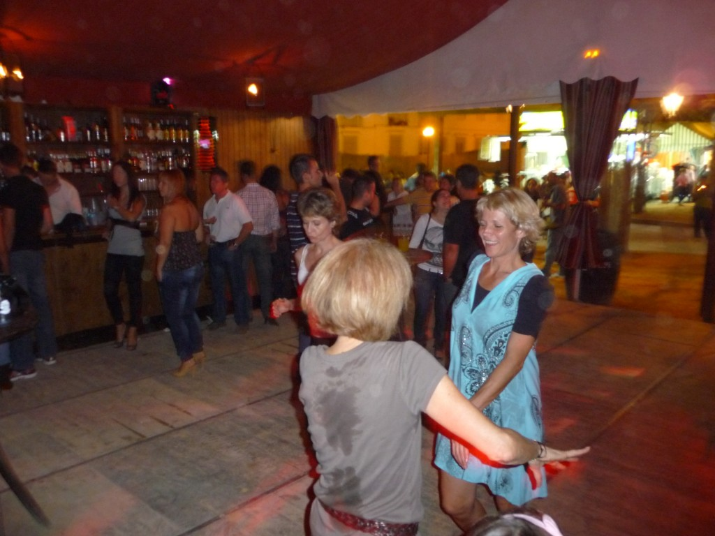 Ha!  Remember this night in Arcos?  You never know when you might run into a Feria.