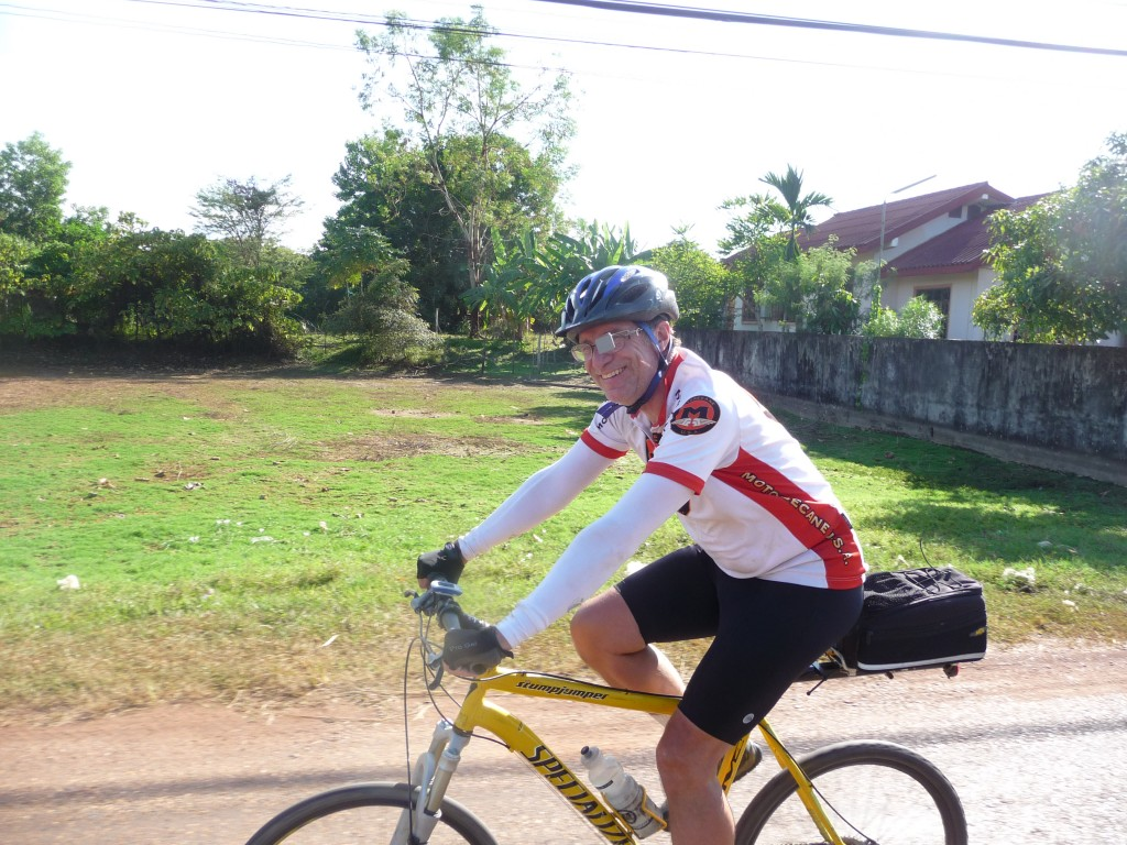 Mike cruising during the Lao tour.