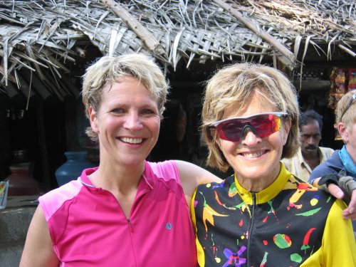 Adrienne and mom, Janice in India